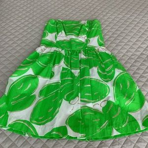 Lily Pulitzer strapless dress size 8.